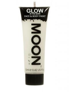 Moon Glow - Glow in the Dark UV Gesicht- und Körperfarbe Schminke Makeup Bodypainting nachtleuchtend transparent 12ml