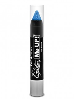 Schminkstift Make-Up UV-aktiv Glitzer blau 3g