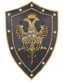 Ritterschild für Erwachsene Mittelalter schwarz-gold