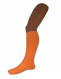Fluoreszierende Overknee-Strümpfe neon-orange 53cm