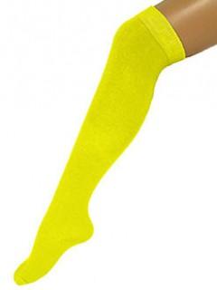 Kniestrümpfe halterlos gelb 53cm