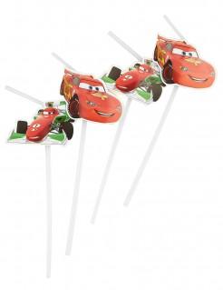 Cars™-Strohhalme Disney-Lizenzartikel 6 Stück rot 24cm