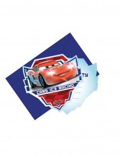 Einladungskarten Lizenzartikel Cars 6 Stück bunt