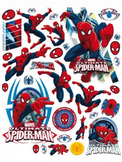 Sticker Fensterbilder Lizenzware Spiderman 39-teilig bunt