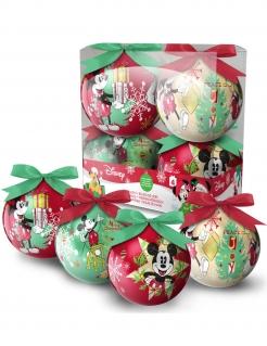 Christbaumkugeln Weihnachten Lizenzware Mickey Mouse 4 Stück bunt