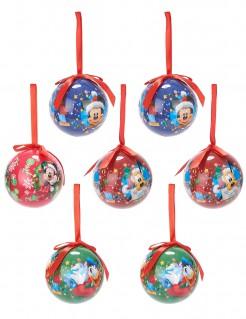 Christbaumkugeln Weihnachten Lizenzartikel Mickey Mouse 7-teilig bunt