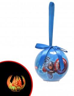 Leuchtende Weihnachtskugel Avengers™ blau-rot