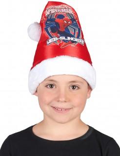 Spiderman Weihnachtsmütze für Kinder rot/weiß