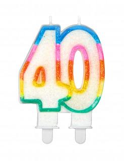 Geburtstagskerze Zahl 40