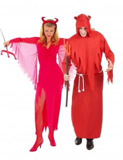 Teufelskostüm für Paare Halloween-Paarkostüm für Erwachsene rot