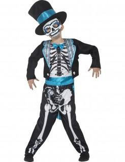 Dia de los Muertos Skelett-Gentleman Halloween Kinderkostüm für Jungen bunt