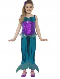 Meerjungfrauen-Kostüm für Mädchen türkis-violett