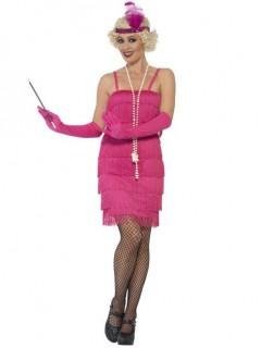 20er-Jahre-Charleston-Kostüm für Damen in Pink