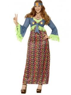Flower Power Hippie Damenkostüm bunt