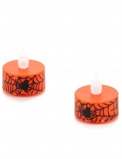 Leuchten Halloween Deko 2 Stück orange-schwarz 2x3,5cm
