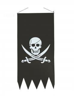 Piratenflagge Totenkopf Flagge schwarz-grau88x43cm