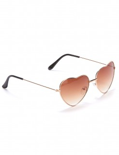 Romantische Brille Herzbrille braun