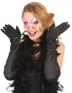 Venezianische Augenmaske mit Pailletten rosa