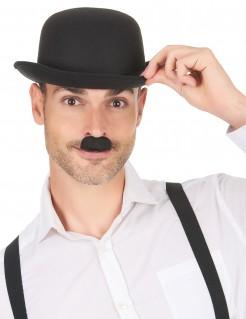 Kostümschnurrbart 30er Bart schwarz