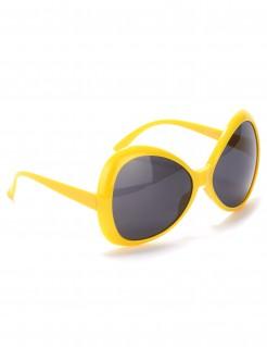 Große Disco-Brille gelb