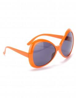 Riesige Disco-Brille für Erwachsene orange