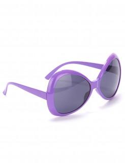70er Jahre Disco Brille lila