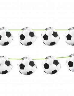 Fussball Wimpelkette Party-Deko Girlande schwarz-weiss 12mx22cm