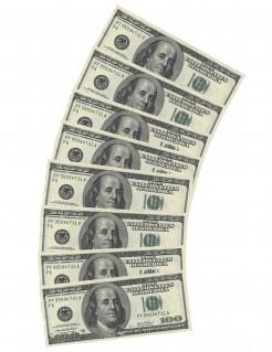 100 Dollar Servietten Party-Deko 10 Stück bunt 33x33cm