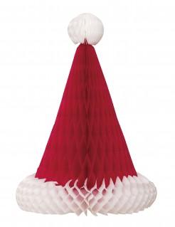Weihnachtsmütze Tischdekoration rot-weiss 30cm