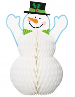 Schneemann Weihnachten Tischdeko bunt 30cm