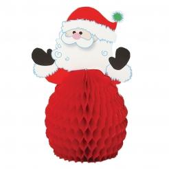 Weihnachtsmann Tischdeko Aufsteller 4 Stück rot-weiss 15cm