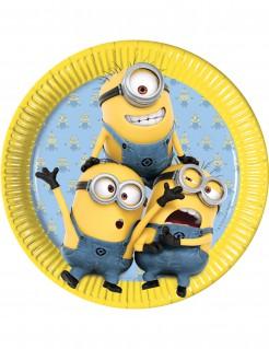 Pappteller Party Lizenzartikel Minions 8 Stück gelb-blau 22cm