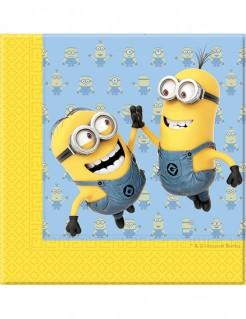 Servietten Lizenzartikel Minions 20 Stück gelb-blau