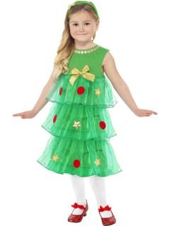 Tannenbaum-Kostüm für Mädchen, hellgrün