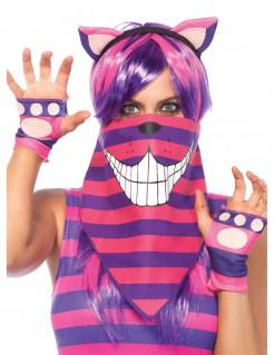 Cheshire Katze Bandana Alice im Wunderland rosa-violett