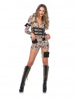 Hübsches Soldatin-Damenkostüm in Tarnfarben
