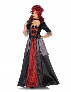 Barock-Vampirin Halloween-Damenkostüm schwarz-rot