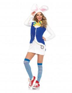 Süßes Hasenkostüm Märchen für Damen weiss-blau