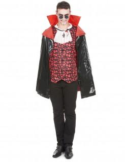 Vampirumhang für Erwachsene in Lackoptik schwarz-rot