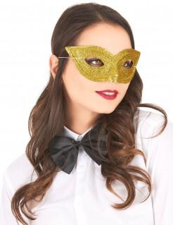 Glitzer-Damenmaske Augenmaske gold