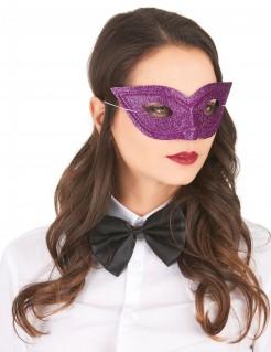 Venezianische Augenmaske Glitzer violett