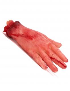Abgehackte Hand Halloween Deko lebensgross haut-rot 31cm