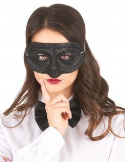 Glitzer-Damenmaske Augenmaske schwarz