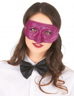 Glitzer-Damenmaske Augenmaske dunkelpink