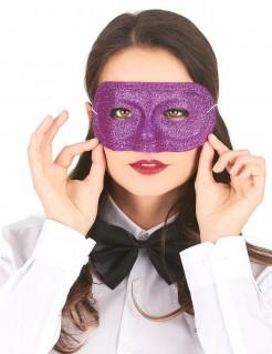 Glitzer-Damenmaske Augenmaske lila