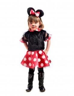 Süßes Mädchen-Mauskostüm schwarz-rot