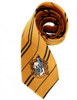 Hufflepuff Krawatte Harry Potter Lizenzartikel orange-schwarz 150cm
