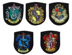 Harry Potter Hogwarts Wappen-Aufnäher 5-teilig bunt 6x8cm