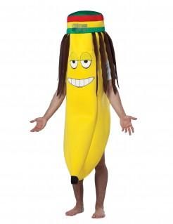 Dreadlocks Rasta Bananen Kostüm für Erwachsene bunt