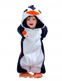 Süßes Pinguin Kostüm Overall für Kleinkinder weiss-blau-orange